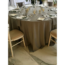 Load image into Gallery viewer, Sage Green Round Polyester Fabric Tablecloth - Extra Wide Suitable for weddings, parties, christenings
