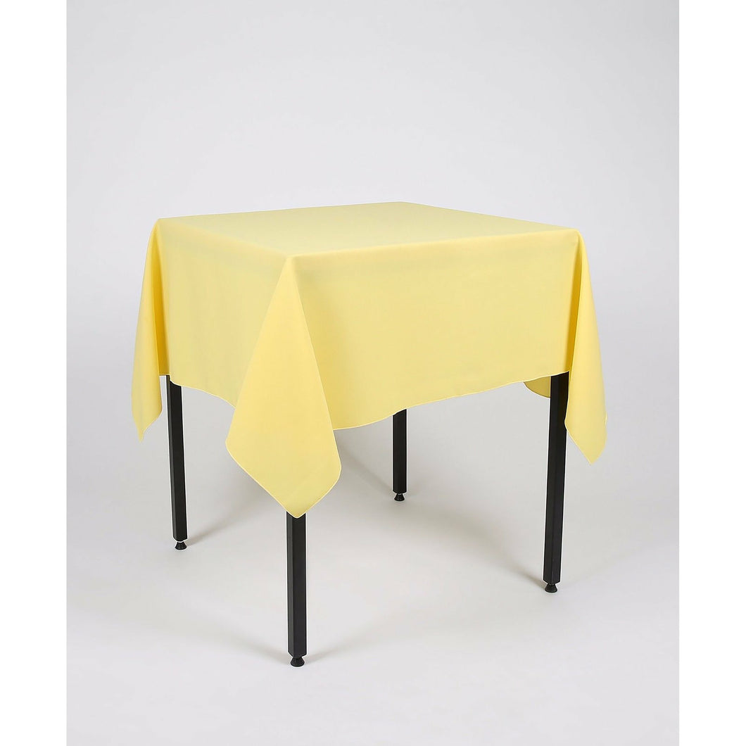Lemon Yellow Square Polyester Fabric Tablecloth