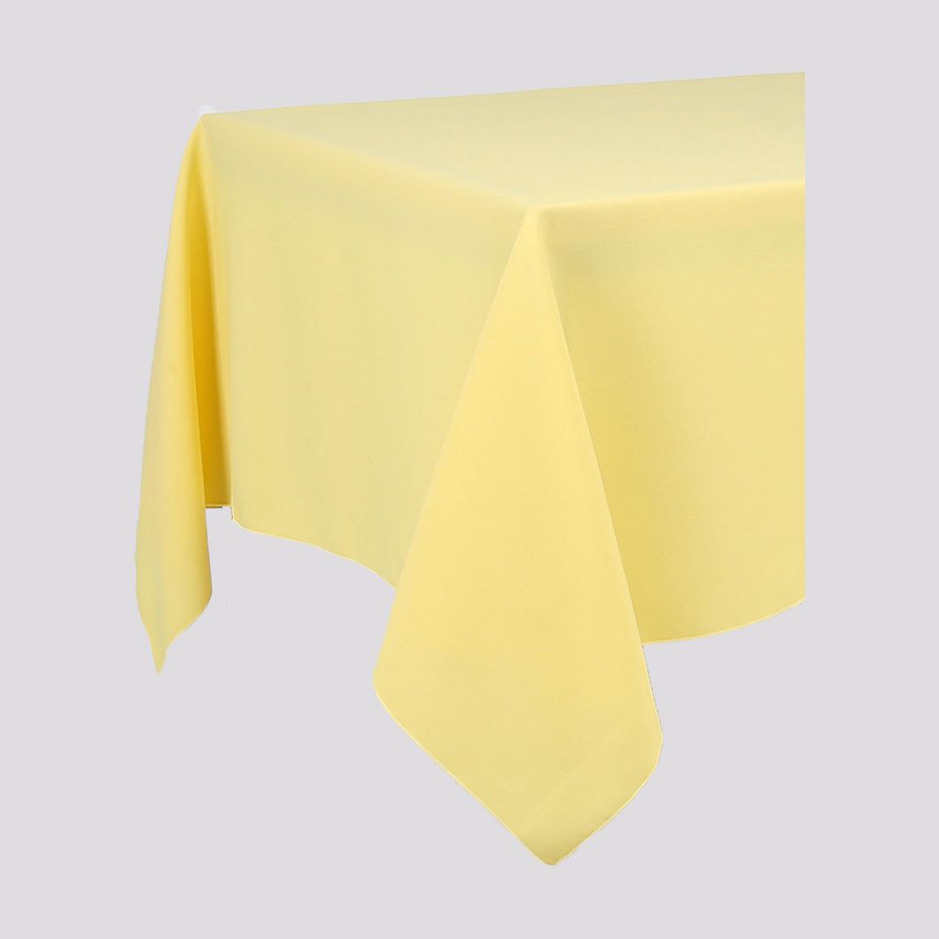 Lemon Yellow Rectangle Polyester Fabric Table cloth - Pub Style Tables