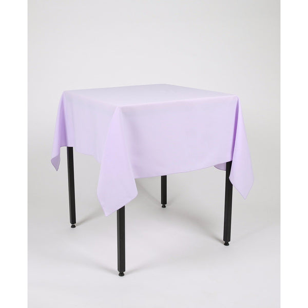 Lilac Square Polyester Fabric Table cloth - Extra Wide