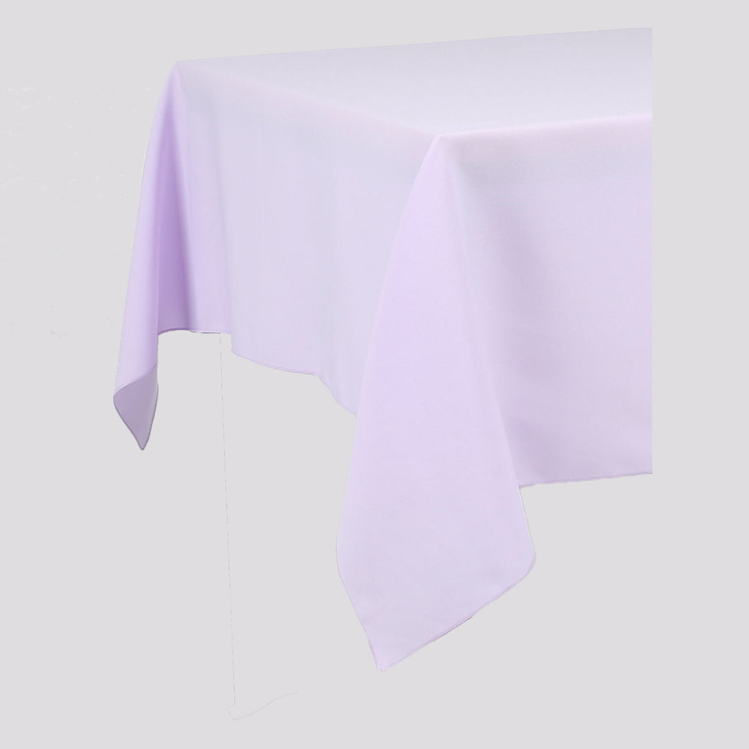 Lilac Rectangle Polyester Fabric Table cloth - Pub Style Tables