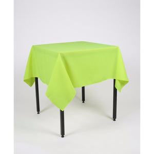 Lime Green Square Polyester Fabric Table cloth - Extra Wide Suitable for weddings, parties, christenings.