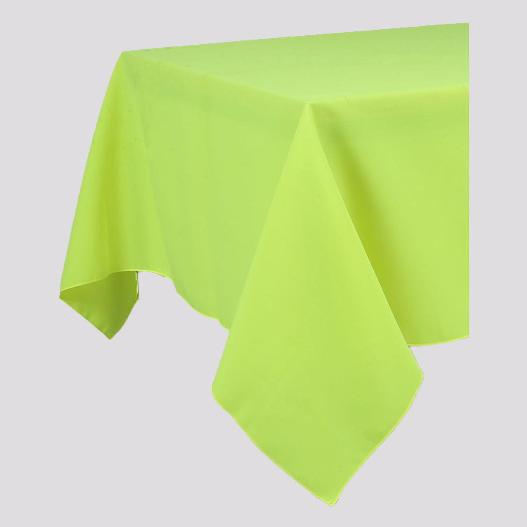 Lime Green Rectangle Polyester Fabric Table cloth - Pub Style Tables