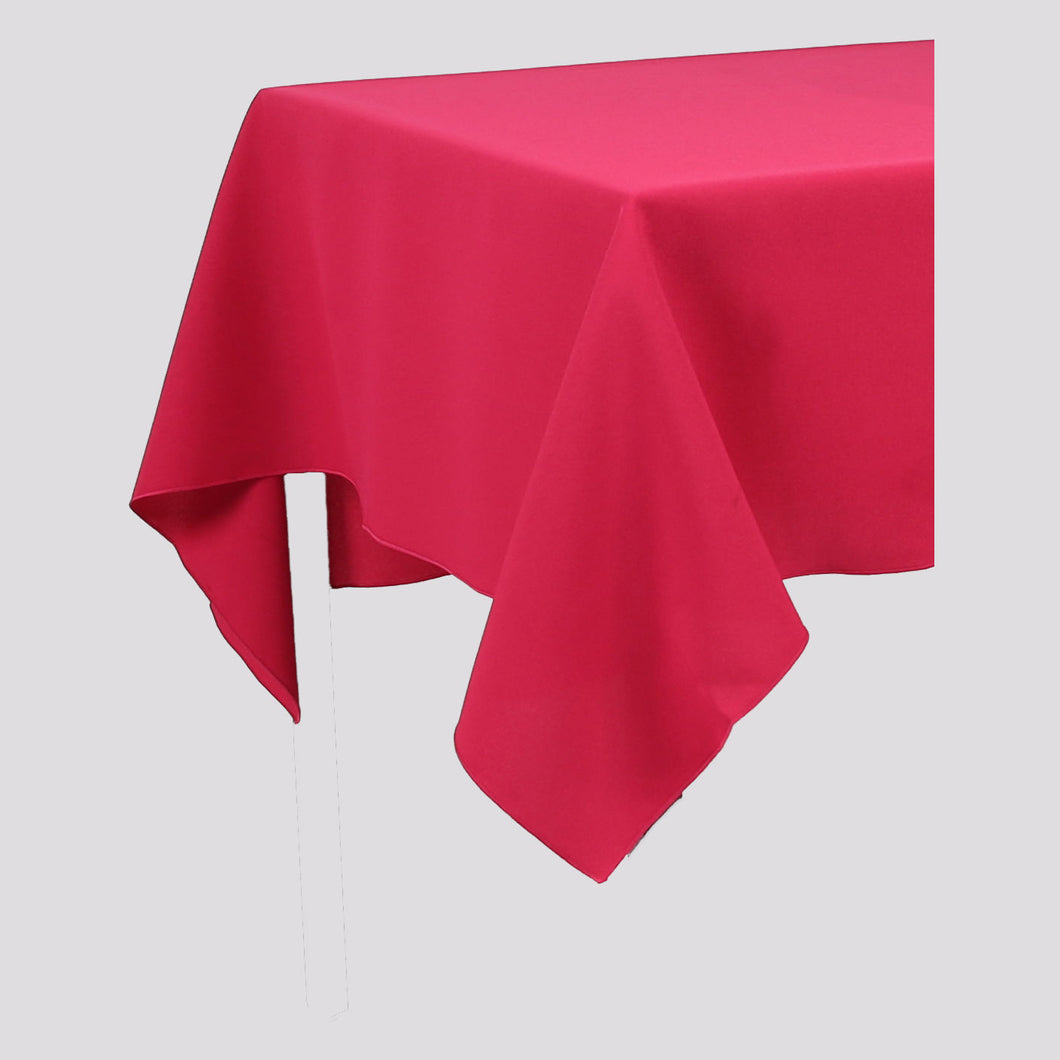 Magenta Dark Pink Rectangle Polyester Fabric Tablecloth - Pub Style Tables
