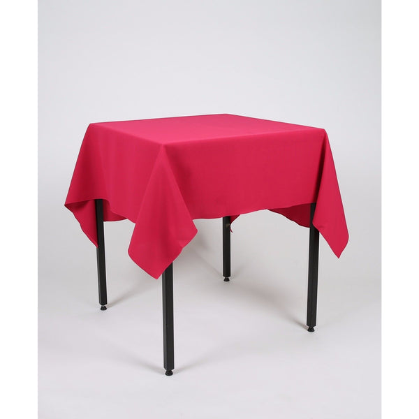 Magenta Dark Pink Square Polyester Fabric Table cloth - Extra Wide