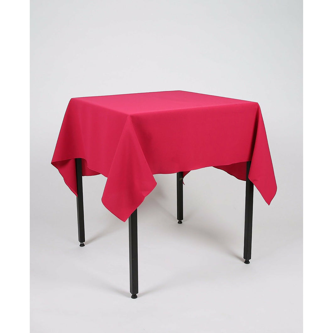 Magenta Dark Pink Square Polyester Fabric Tablecloth