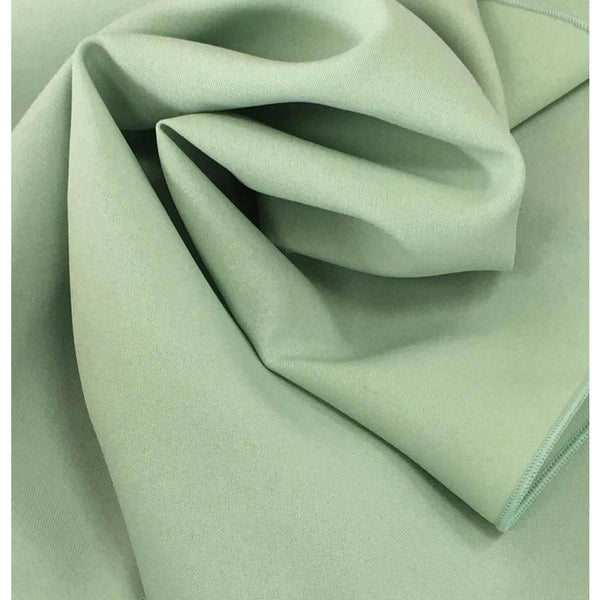 Mint Green Bi-Stretch Polyester Suiting Fabric - By the metre