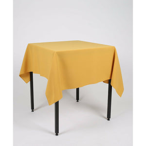 Mustard Yellow Square Polyester Fabric Tablecloth