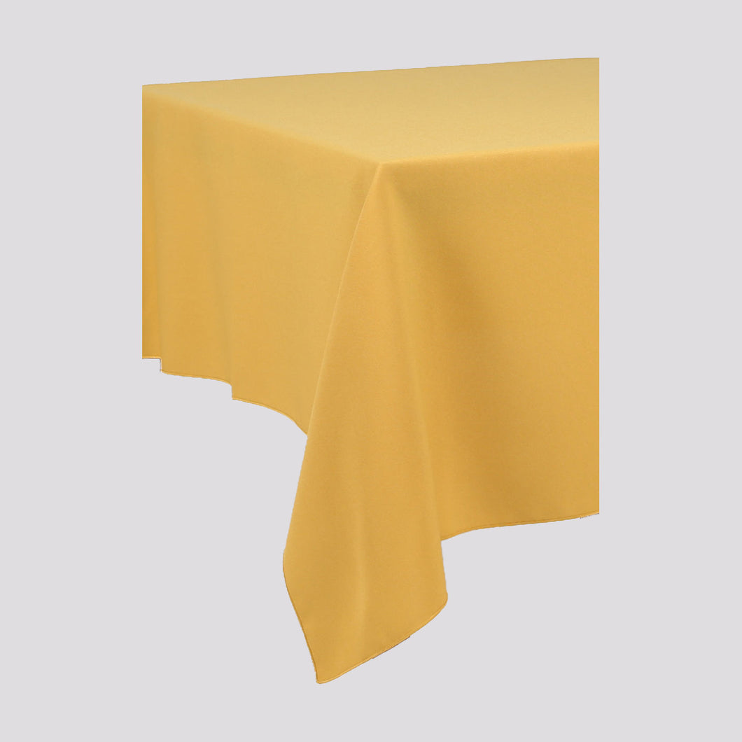 Mustard Yellow Rectangle Polyester Fabric Table cloth - Pub Style Tables