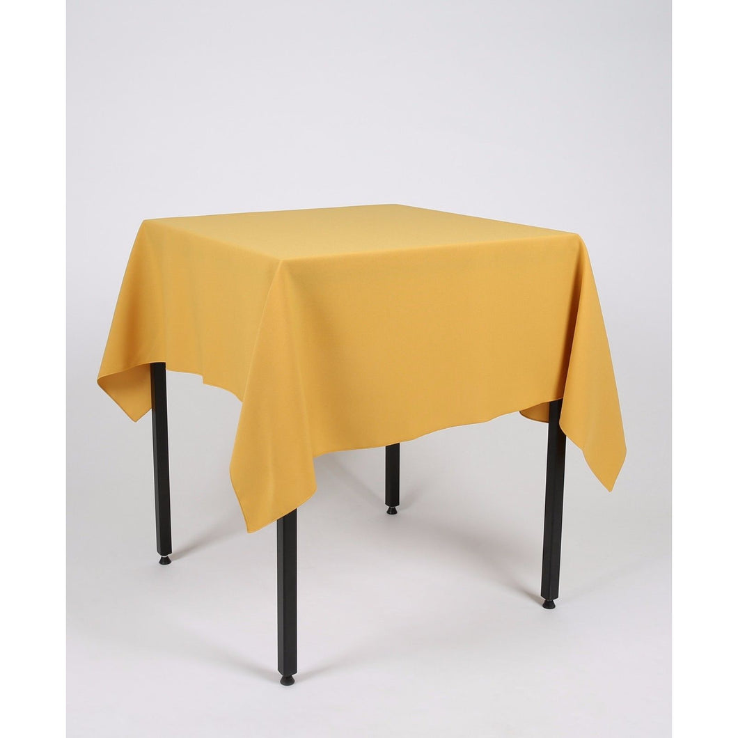 Mustard Yellow Square Polyester Fabric Table cloth - Extra Wide Suitable for weddings, parties, christenings.
