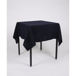 Navy Blue Square Polyester Fabric Tablecloth  - Extra Wide