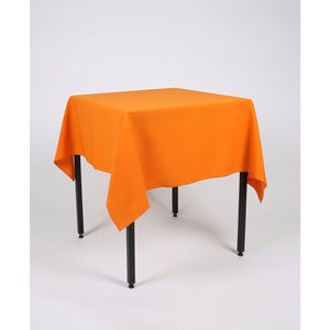 Orange Square Polyester Fabric Table cloth - Extra Wide Suitable for weddings, parties, christenings