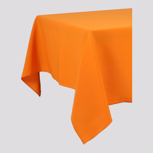 Orange Rectangle Polyester Fabric Table cloth - Pub Style Tables