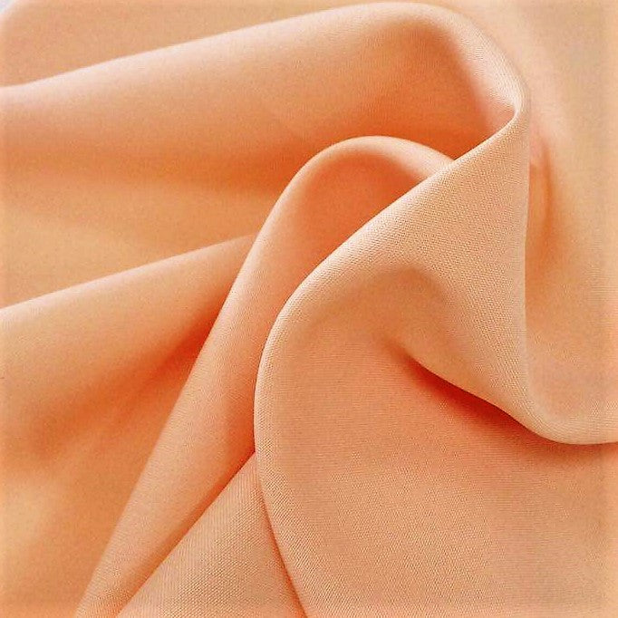 Peach Bi-Stretch Polyester Suiting Fabric - By the metre