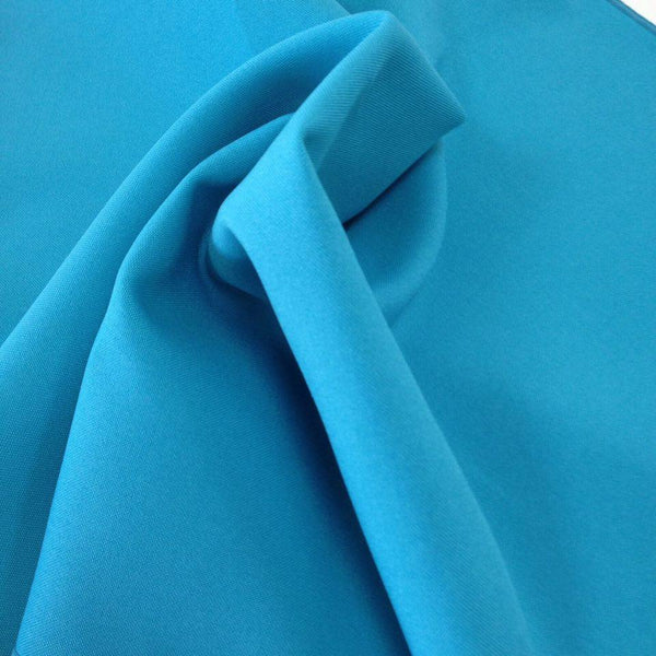 Peacock Blue Bi-Stretch Polyester Suiting Fabric - By the metre