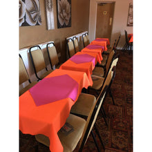 Load image into Gallery viewer, Hot Pink Rectangle Polyester Fabric Tablecloth - Pub Style Tables