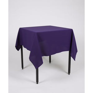 Purple Square Polyester Fabric Table cloth - Extra Wide Suitable for weddings, parties, christenings