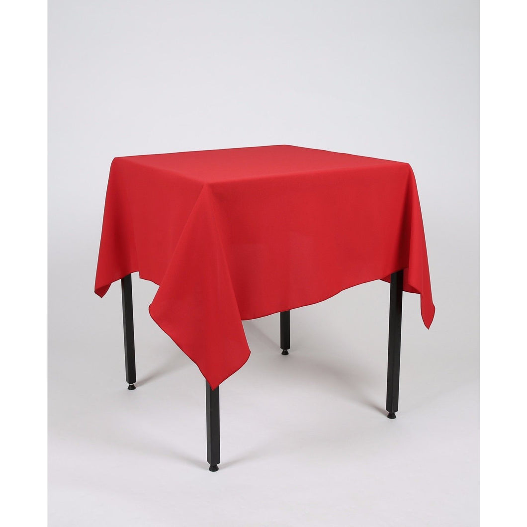 Red Square Polyester Fabric Table cloth - Extra Wide Suitable for weddings, parties, christenings