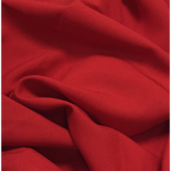 Red Bi-Stretch Polyester Suiting Fabric - By the metre