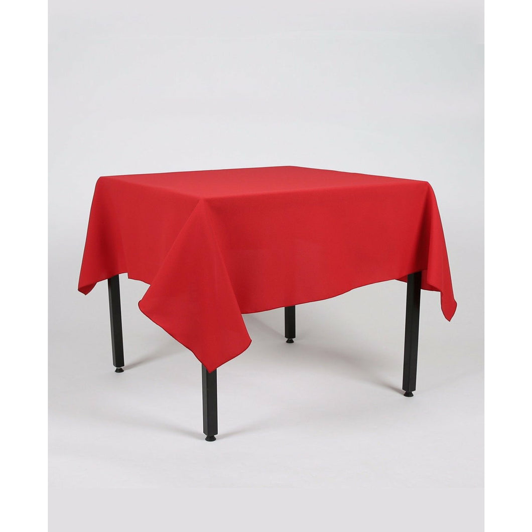 Red Rectangle Polyester Fabric Table cloth - Pub Style Tables