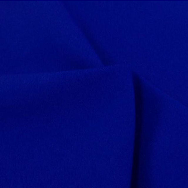 Royal Blue Bi-Stretch Polyester Suiting Fabric - By the metre