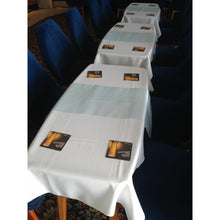 Load image into Gallery viewer, Purple Rectangle Polyester Fabric Table cloth - Pub Style Tables
