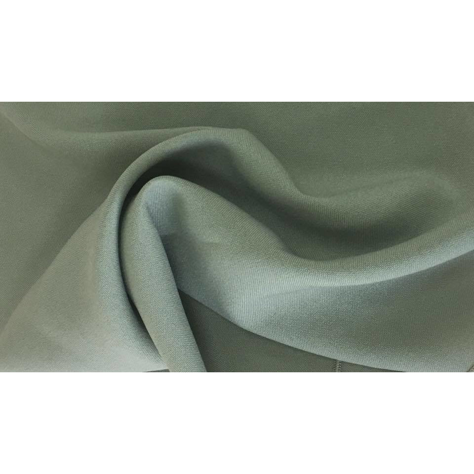 Sage Green Bi-Stretch Polyester Suiting Fabric - By the metre