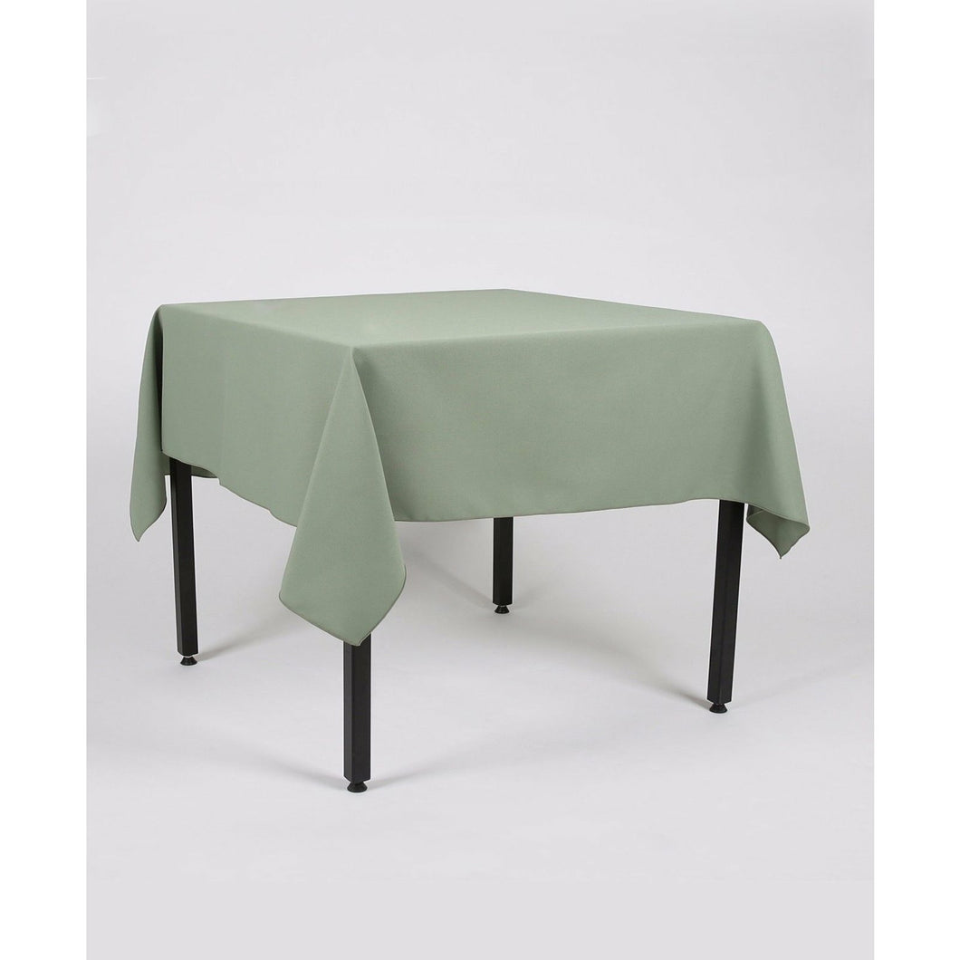 Sage Green Rectangle Polyester Fabric Table cloth - Pub Style Tables