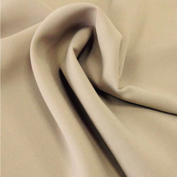 Beige Bi-Stretch Polyester Suiting Fabric - By the metre