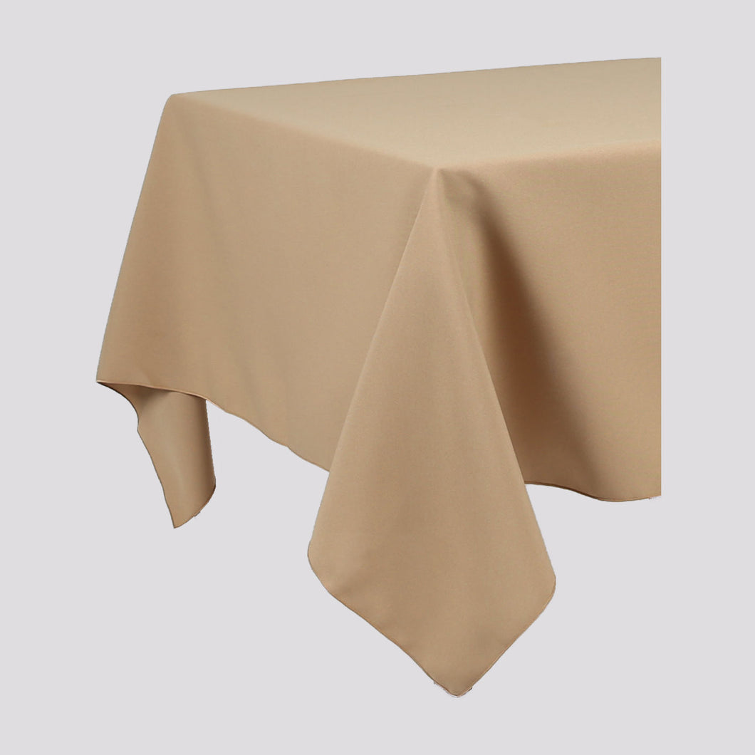 Beige Rectangle Polyester Fabric Table cloth - Pub Style Tables