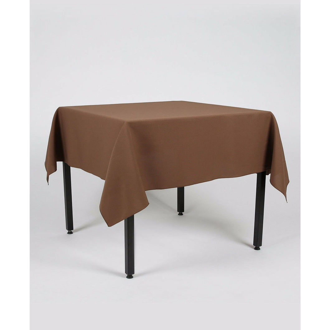 Brown Rectangle Polyester Fabric Table cloth - Pub Style Tables