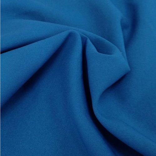 Teal Bi-Stretch Polyester Suiting Fabric - By the metre