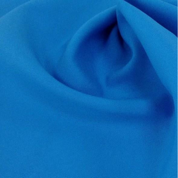 Turquoise Bi-Stretch Polyester Suiting Fabric - By the metre