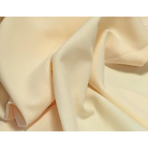 Vanilla Bi-Stretch Polyester Suiting Fabric - By the metre