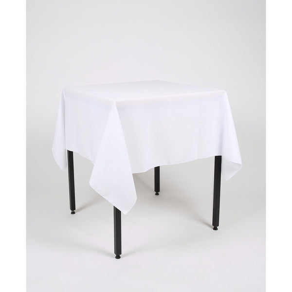 White Polyester Fabric Table cloth - Extra Wide
