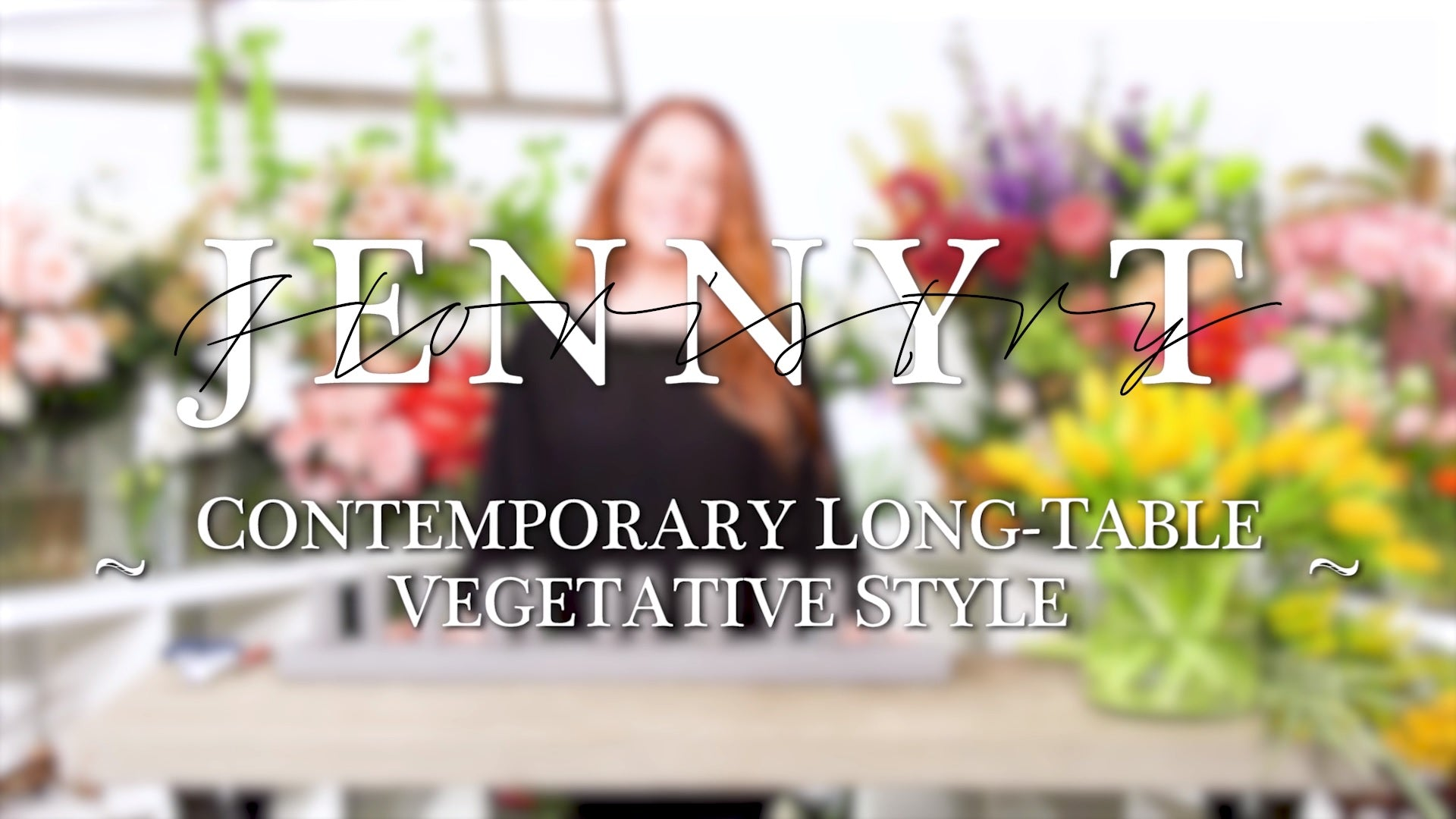 Contemporary Long-Table Vegetative Style