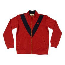 Load image into Gallery viewer, Burgundy Strike Track Jacket