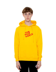 "Yellow ""FAKE World"" Pullover Hoodie"