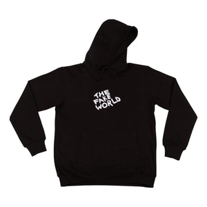 "Black ""FAKE World"" Pullover Hoodie"