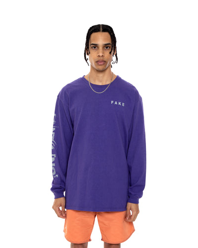COINTEL[NO] Purple Long-Sleeve Shirt