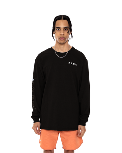 COINTEL[NO] Black Long-Sleeve Shirt