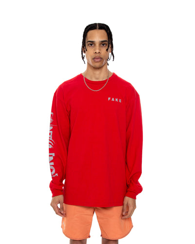 COINTEL[NO] Red Long-Sleeve Shirt