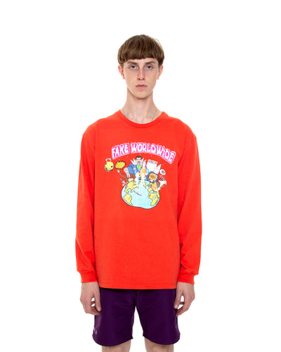Fake Worldwide Orange Long-Sleeve Shirt