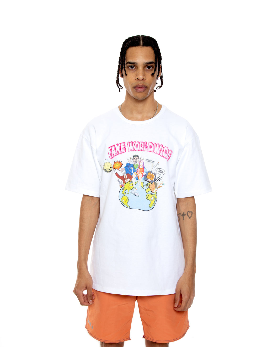 Fake Worldwide White Short-Sleeve Shirt