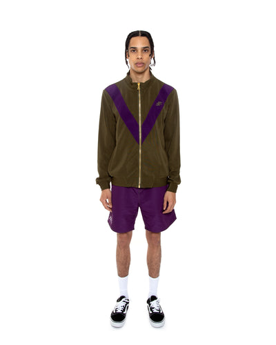 Olive Strike Track Jacket