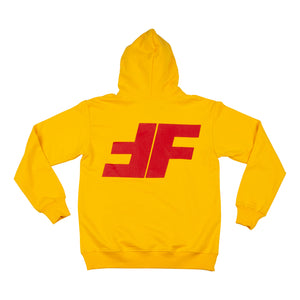 Yellow FF Pullover Hoodie