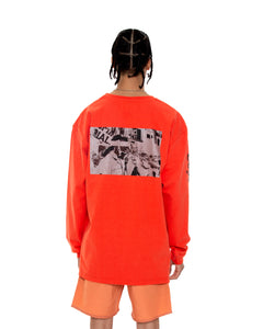 COINTEL[NO] Orange Long-Sleeve Shirt