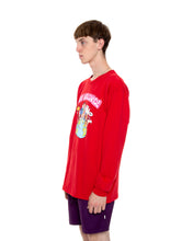 Load image into Gallery viewer, Fake Worldwide Red Long-Sleeve Shirt