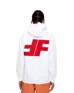 White FF Pullover Hoodie