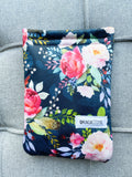 Roses with Navy Reusable Bag